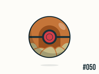 Pokéballday #050 Diglett Ball pokéballday pokeballday nintendo vector illustrator clean pokéball pokeball pokémon pokemon diglett