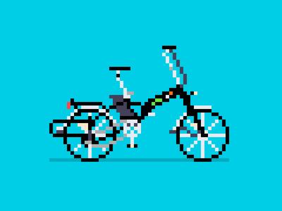 Pixel Art Bike:  Electrobike Alfa + v2
