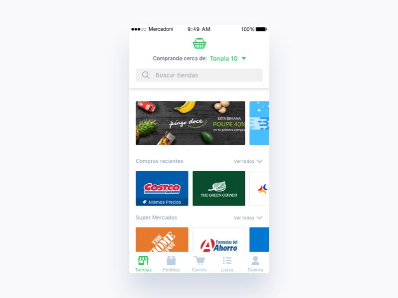 Mercadoni Main iOS main app clean mercadoni ios ui ux