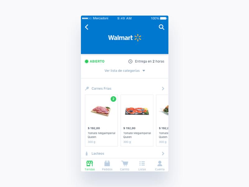 Mercadoni Retailer iOS retailer ux ui ios mercadoni clean app