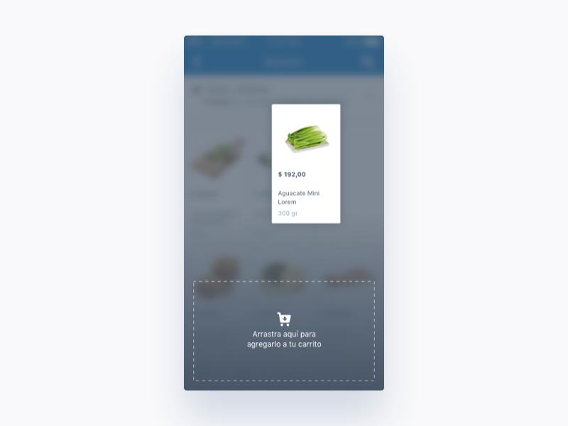 Mercadoni Drag&Drop iOS dragdrop ux ui ios mercadoni clean app
