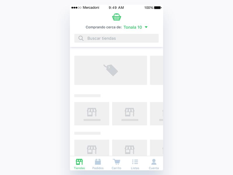 Mercadoni Loader Main iOS loading loader ux ui ios mercadoni clean app