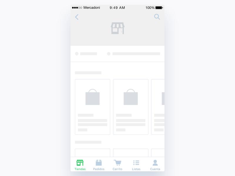 Mercadoni Loader Retailer iOS retailer app clean mercadoni ios ui ux loader loading
