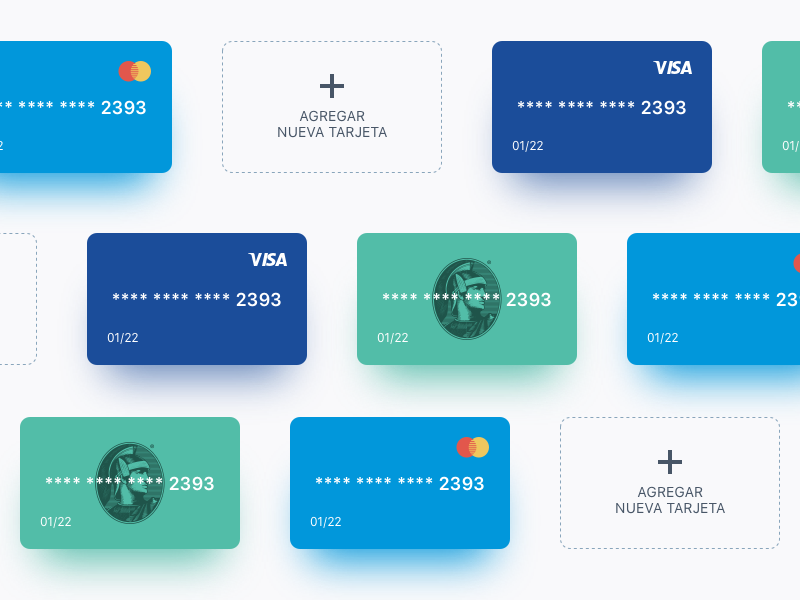 Credit Card Mercadoni blur emerican express amex mastercard credit card clean lines mercadoni online buy illustration