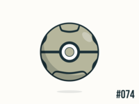 Pokéballday #074 Geodude Ball