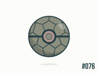 Pokéballday #76 Golem Ball