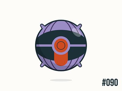 Pokéballday #090 Shellder Ball shellder pokéballday pokeballday nintendo vector illustrator clean pokéball pokeball pokémon pokemon