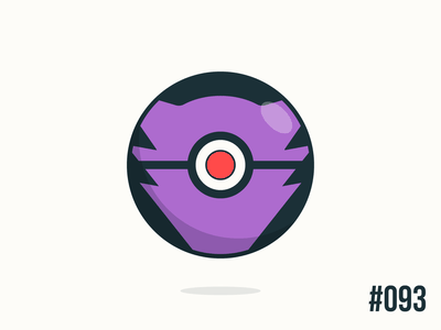Pokéballday #093 Haunter Ball haunter pokéballday pokeballday nintendo vector illustrator clean pokéball pokeball pokémon pokemon