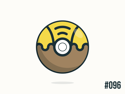 Pokéballday #096 Drowzee Ball drowzee pokéballday pokeballday nintendo vector illustrator clean pokéball pokeball pokémon pokemon