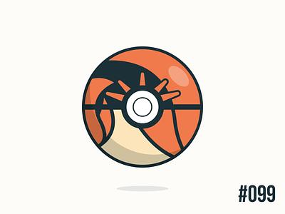 Pokéballday #099 Kingler Ball kingler pokéballday pokeballday nintendo vector illustrator clean pokéball pokeball pokémon pokemon
