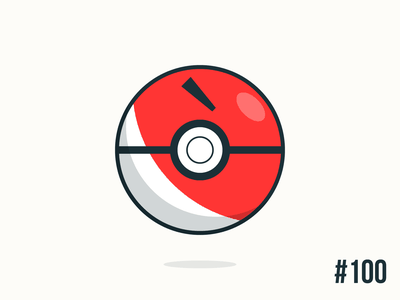 Pokéballday #100 Voltorb Ball voltorb pokéballday pokeballday nintendo vector illustrator clean pokéball pokeball pokémon pokemon