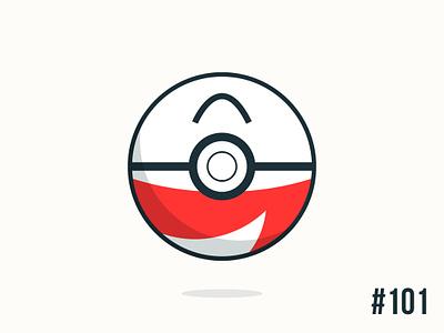 Pokéballday #101 Electrode Ball electrode pokéballday pokeballday nintendo vector illustrator clean pokéball pokeball pokémon pokemon