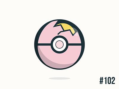 Pokéballday #102 Exeggcute Ball exeggcute pokéballday pokeballday nintendo vector illustrator clean pokéball pokeball pokémon pokemon