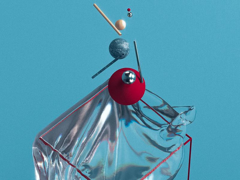 Everydays in cinema 4d modern art plastic blue still life clean design basic shapes spheres abstract bdsr cinema 4d c4d everydays
