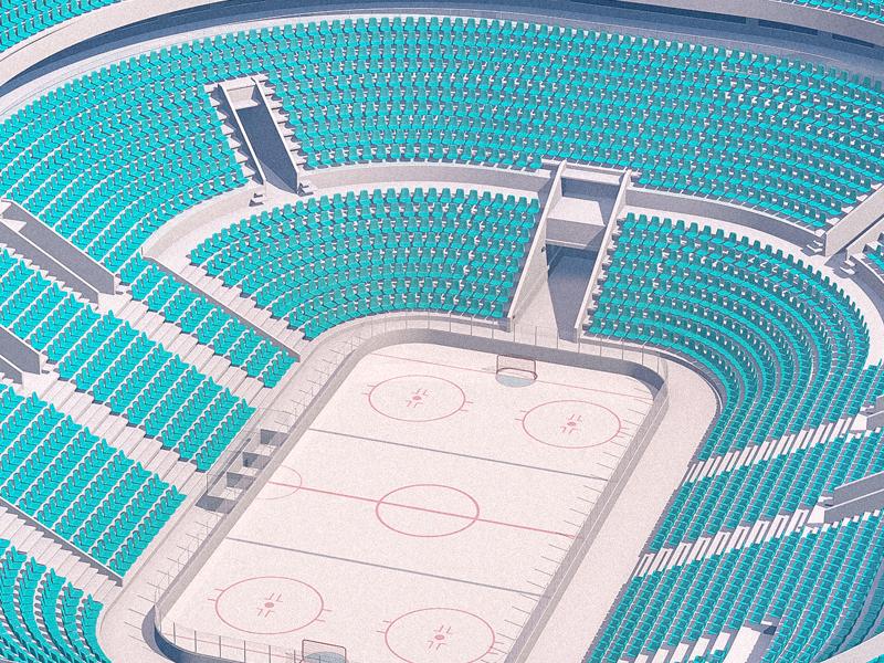 Hockey Stadium russian bdsr 3d everydays cgi thebarraqda freelance design render cinema4d arena broadcast sport stadium hockey