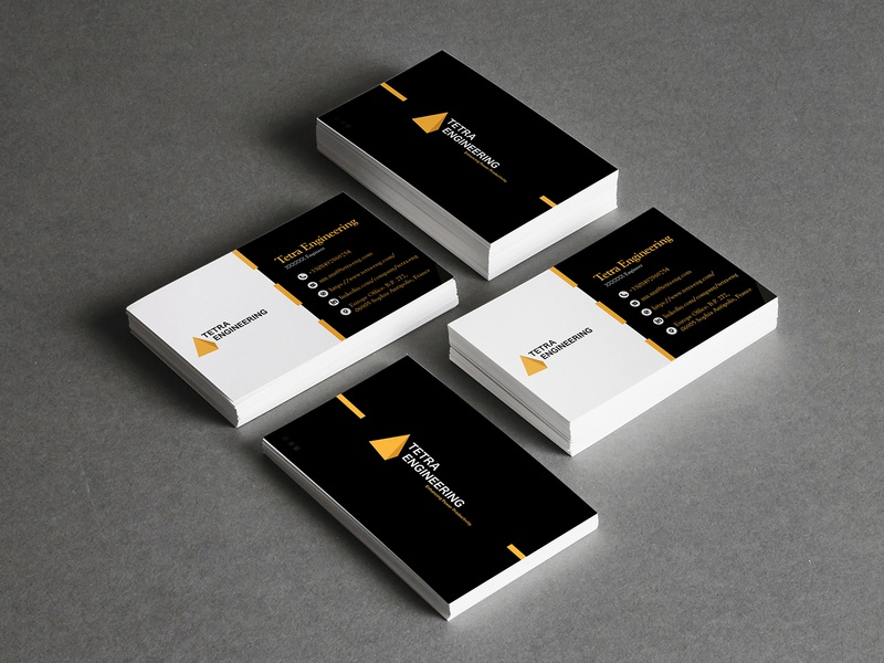 Tetra Engineering Card card design business cards business card template business card design template company business card card branding advertisement design illustration