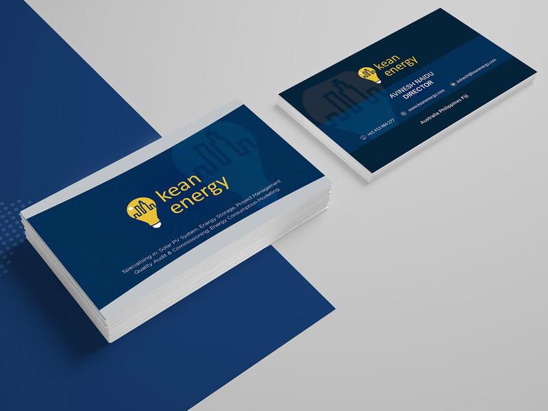 Kean Energy Card Design card card design business cards business card design business card branding template illustration design company business card template advertisement