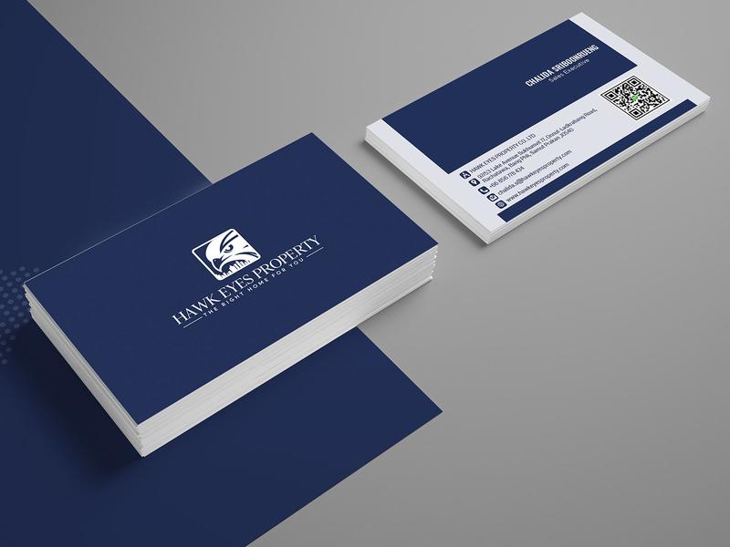 Hawk Eyes Property Card Design business card template business cards business card design branding business card template illustration design company card design advertisement
