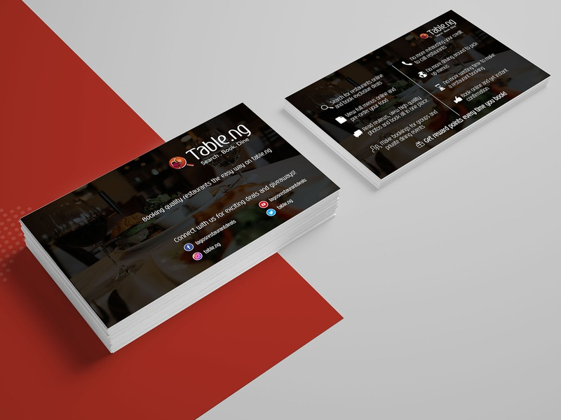 Table.ng Card Design card card design business cards business card design business card typography template company branding design illustration business card template advertisement