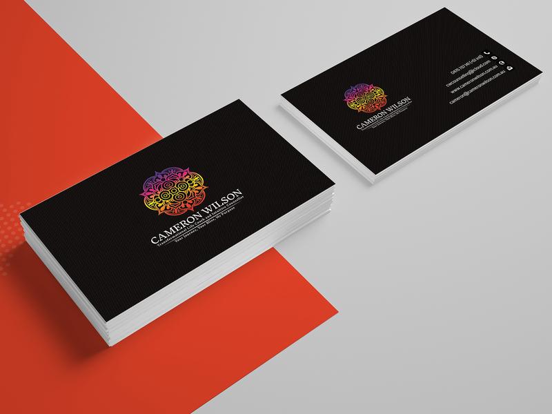 Cameron Wilson Card Design business card design business card card card design template typography branding business card template business cards illustration design company advertisement
