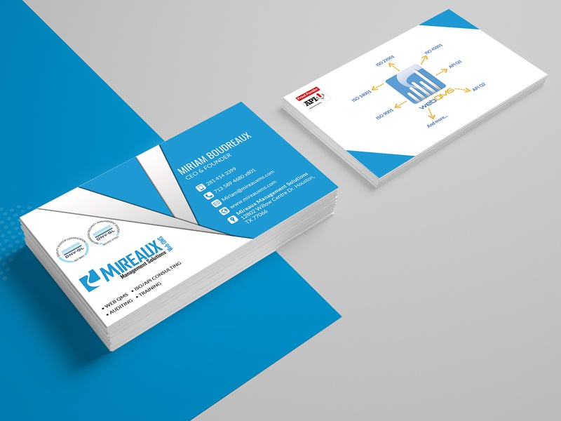 Mireaux Management Solution Card Design card card design business card template business card typography business card design business cards template branding illustration design company advertisement