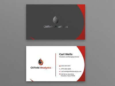 Oilfield Analytics Business Card Design