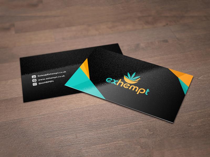 Exhempt Business Card Design logo design card card design business card template business cards business card design business card advertisement