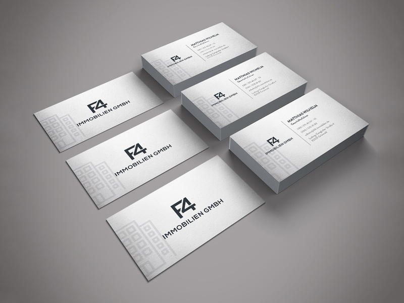 F4 IMMOBILIEN GMBH Business Card Design card advertisement design card design business card template business cards business card design business card