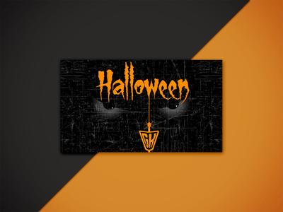 Halloween Business  Card Design
