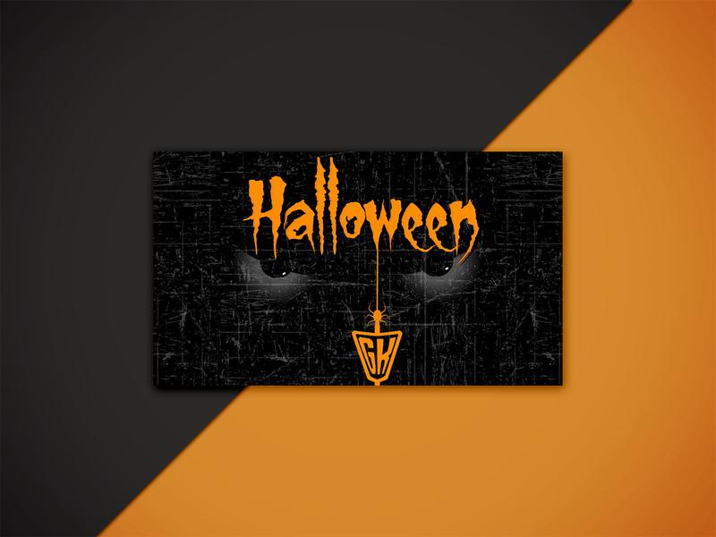 Halloween Business  Card Design advertisement card design design business card template business cards business card design business card