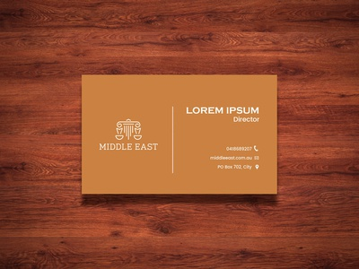 Middle East Business Card Design