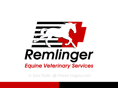 Horse Logo for an Equine Veterinary Service