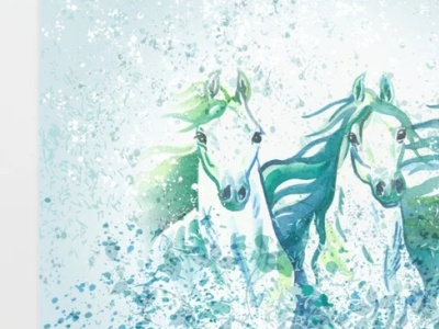Two Arabian Horses in Watercolor