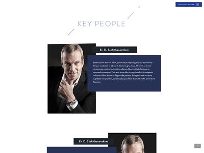 Key People team team members about page key people mockup