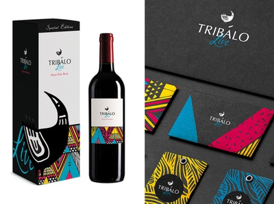 Tribalo brand identity and packaging