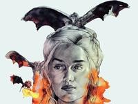 Daenerys In Watercolor