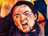 GOT Tribute Poster: Arya Stark in procreate