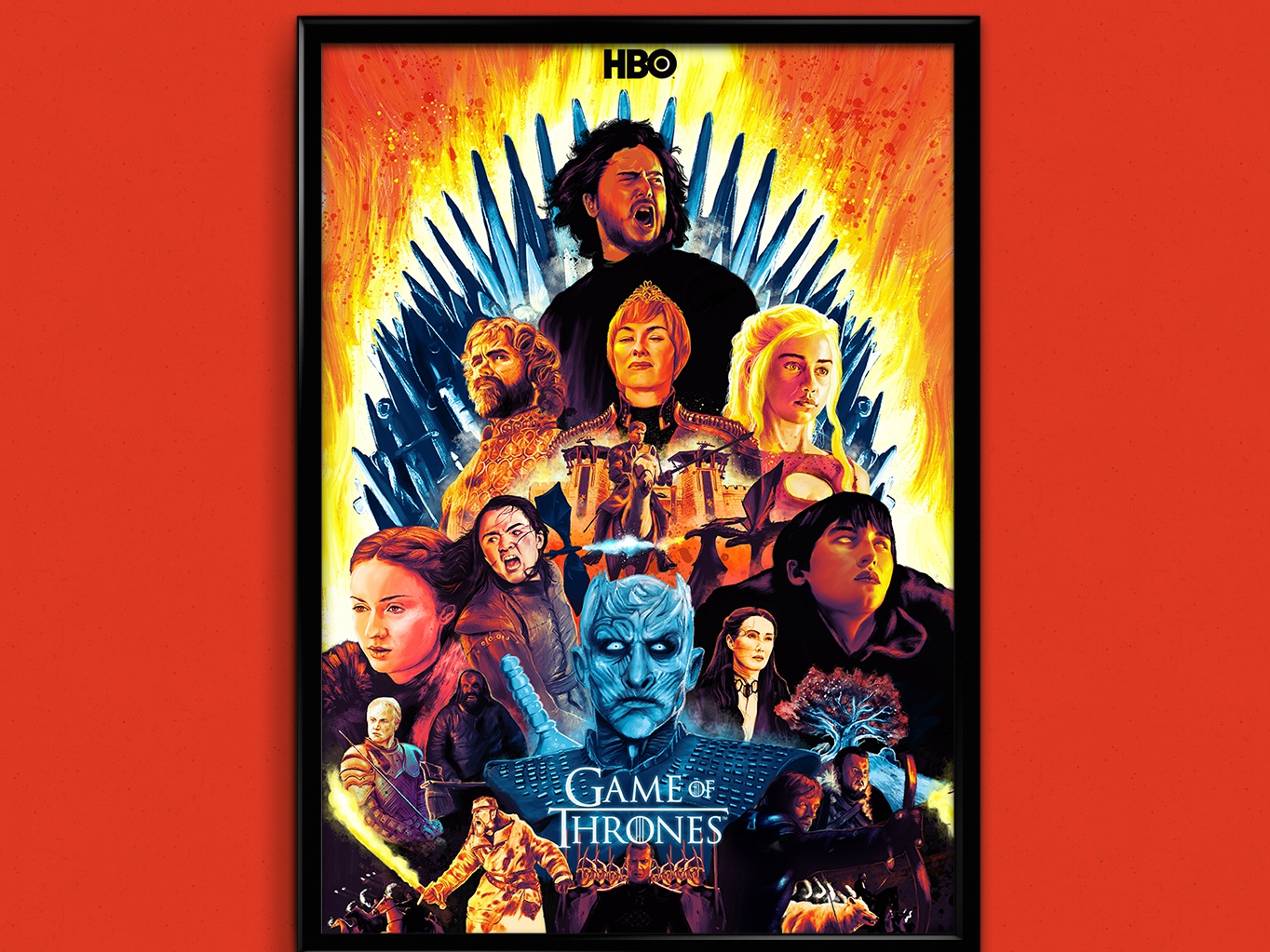 GOT Tribute Poster designs movie poster tv series hbo graphic graphics gameofthrones digital illustration game of thrones design graphic design poster a day poster design poster art posters poster digital digital art marketing agency illustration