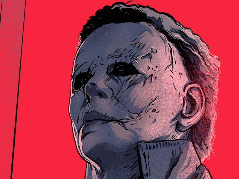 Halloween Poster, Mike Myers by The Commas on Dribbble