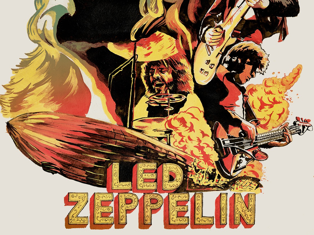 Led Zeppelin- Commission in Oil painters band merch bands rock and roll music player music art music app musician music painting painter paint water colors watercolor water color oil on canvas oil painting oil paint oils oil