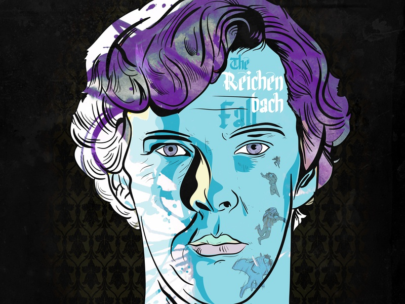 Alternative Poster: Sherlock (Tv Series) visual art visual identity visual design detective character novel psychedelic trippy alternative movie poster alternative english british benedict cumberbatch bbc sherlock holmes sherlock tv series tv shows tv show tv