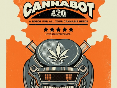 Retro Poster Branding- Cannabis Industry