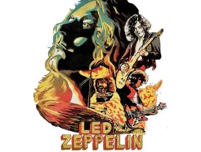 OIl Art Prints- Led Zeppelin