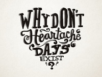 Hand lettering for The Mindy Project