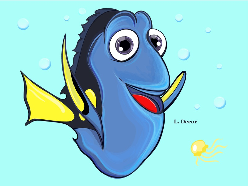 """Dory"" animation vector illustration"
