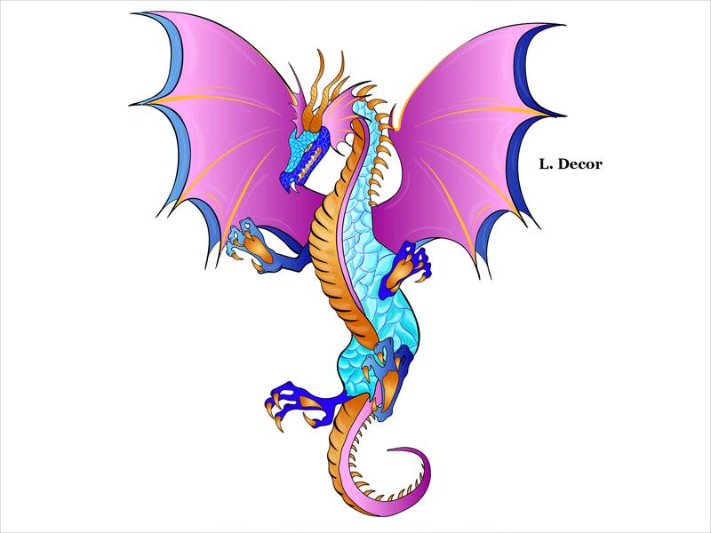 "Dracon ""Druggy"" web design vector illustration"
