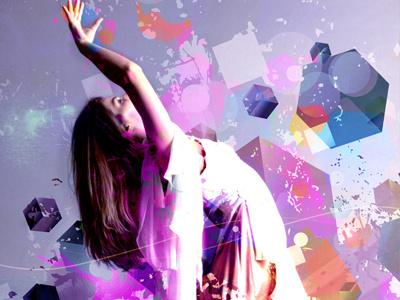 Ascending Angels abstract retro portrait digital art mixed media design art graphic design