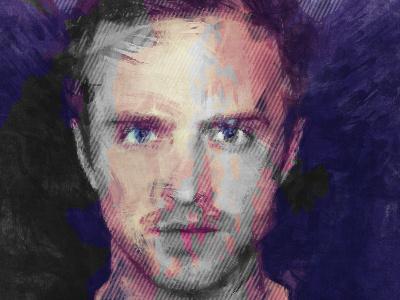 Jesse Test  abstract art portrait design retro test breaking bad jesse pinkman aaron paul