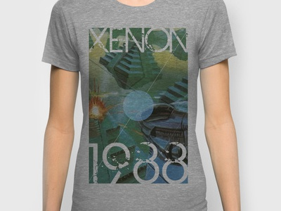 Xenon T-Shirt abstract retro video game computer game 8bit 16bit 80s 90s arcade graphic vintage speccy c64 amstrad amiga atari nintendo sega videogame nerd geek