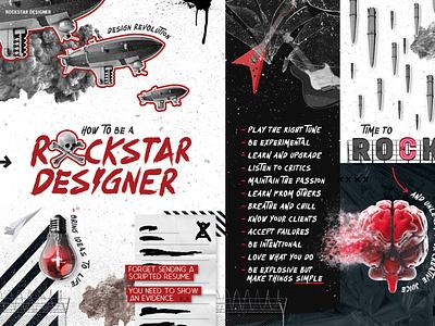 Rockstar Designer illustration typography poster design freelance designer website branding designer design magazine illustration magazine design magazine